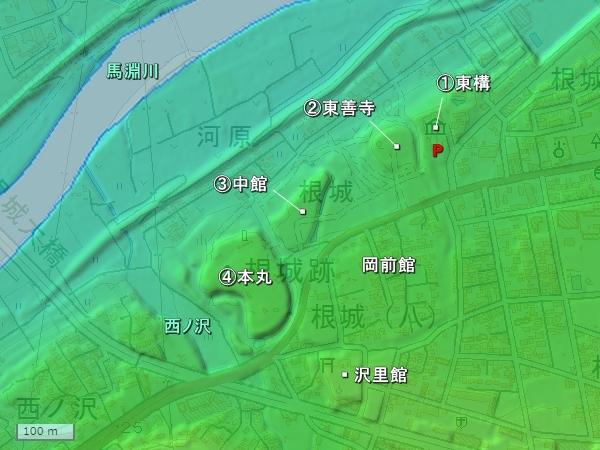 根城地形図