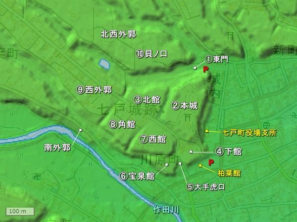 七戸城地形図