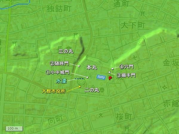 大館城地形図