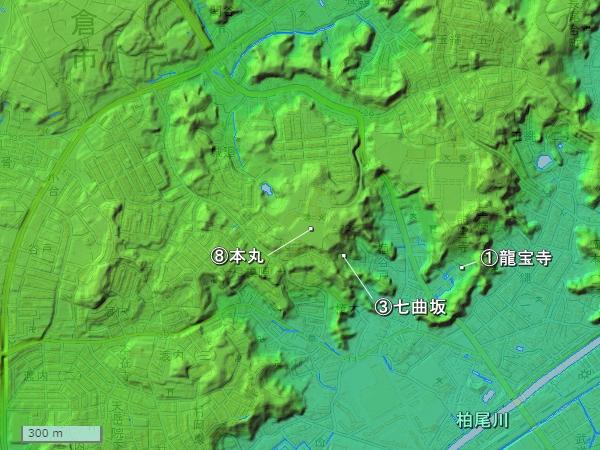 玉縄城広域図