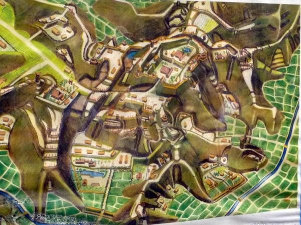 玉縄城復元図