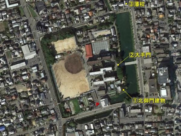 西条藩陣屋航空写真