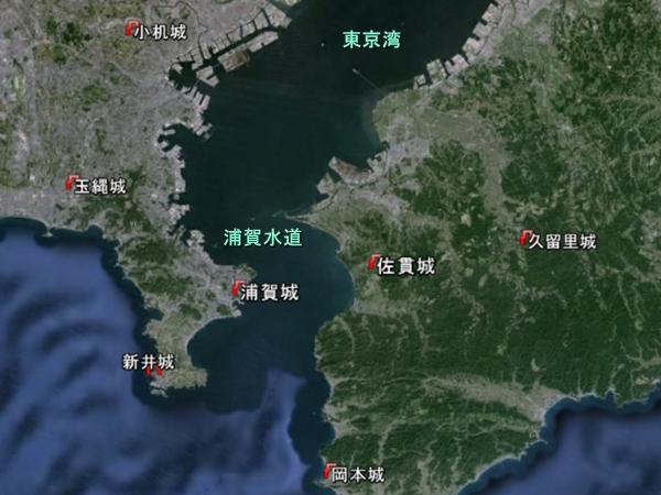 浦賀水道地形図