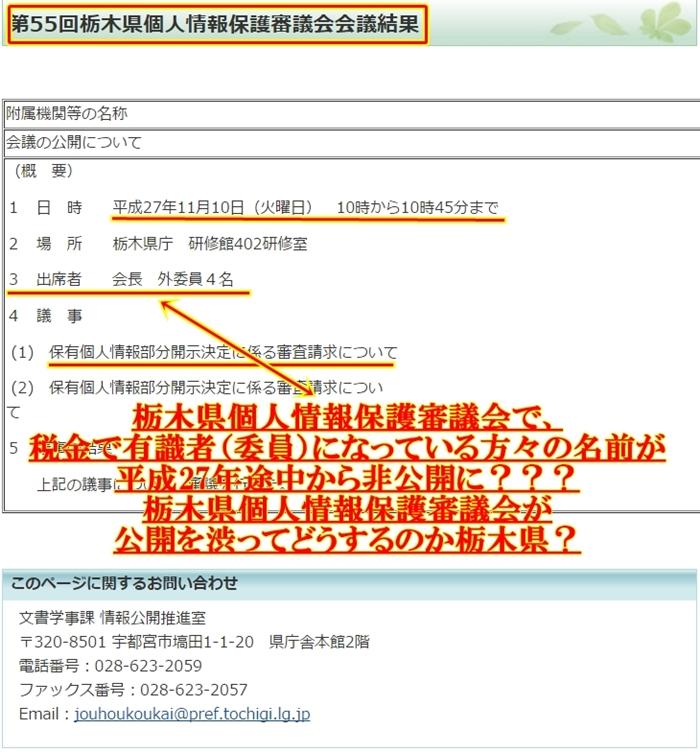 栃木県個人情報保護審議会1