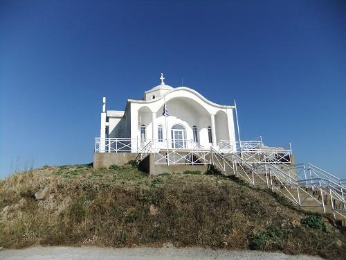 リムノス_港を見下ろす教会 (1)