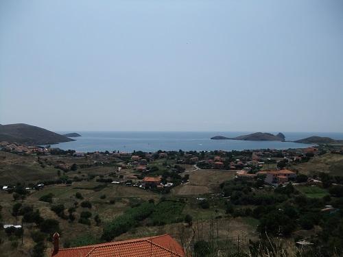 リムノス_プラティから見下ろすビーチ