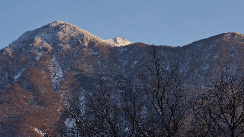 由布岳-山頂雪