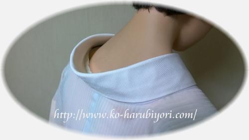 時間短縮!簡単&綺麗な半衿の付け方テキスト用写真●東レバイアス半衿