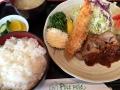 ポレポレの海老フライ&チキンソテー定食151129