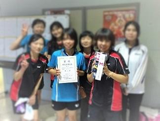 女子ダブルス卓球大会 (2)
