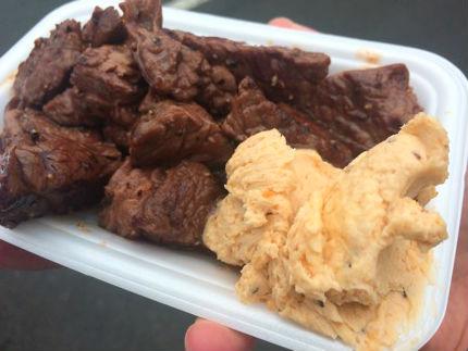 肉フェス@ナガシマリゾート2015秋(長島)のガリバタROCKステーキ