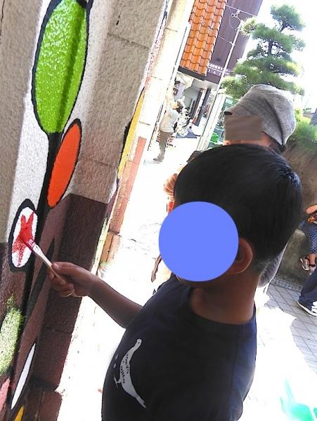 みんなで色塗りワークショップ田辺駅2015-02