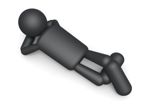 ふて寝のフリー画像
