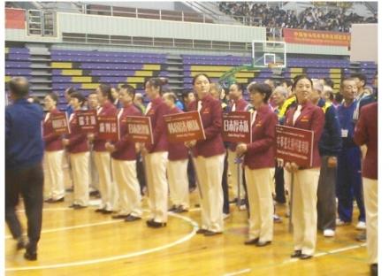 揚州卓球大会開会式①
