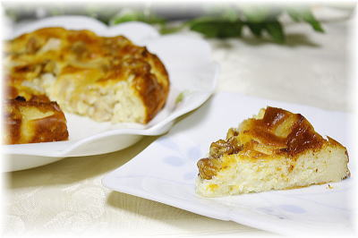ゴルゴンゾーラとりんごのチーズケーキ