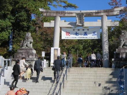 武田神社、七五三