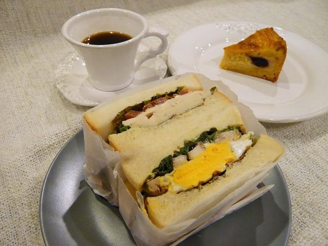 マルミヤパンで作ったサンドイッチ
