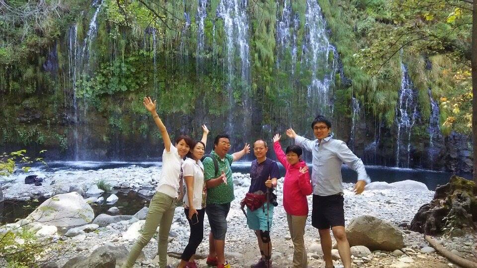 モスブレイの滝集合写真