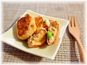 鮭と豆腐のフワフワ焼き
