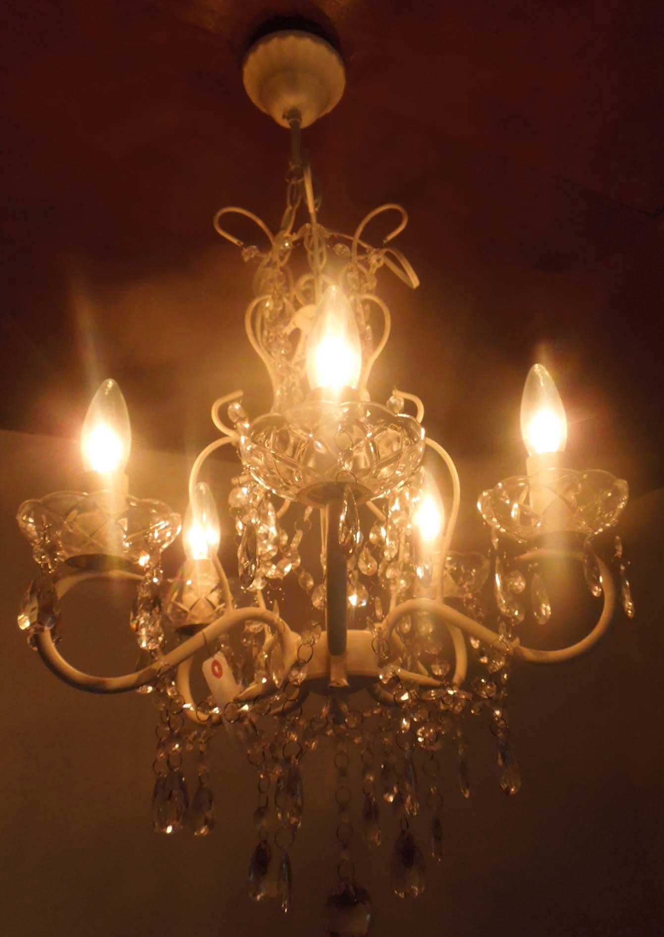 新品 5灯 シャンデリア ライト 5灯、Chandelier Light White