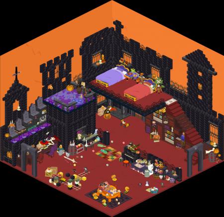 ハロウィン部屋完成