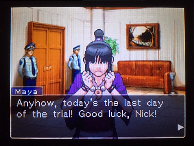 逆転裁判 北米版 審理最終日、控え室9