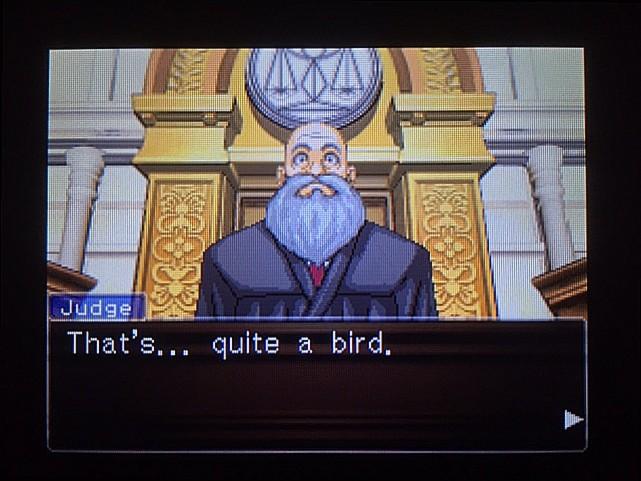 逆転裁判 北米版 オウム入廷23