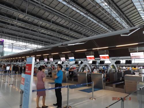 スワンナプーム空港 チェックインカウンター