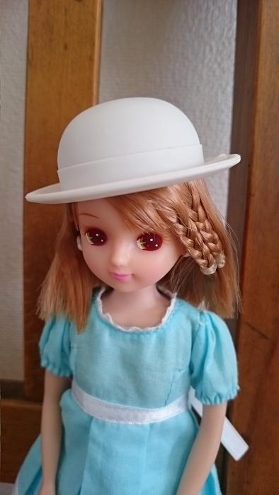 ナイロビリカちゃん水色ワンピ帽子913