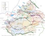 新疆ウイグル自治区地図