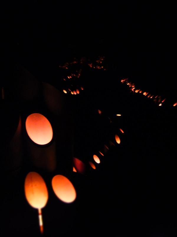 2015竹灯籠 黒塀通り 2