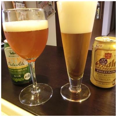 銀河高原ビールとドライプレミアム2