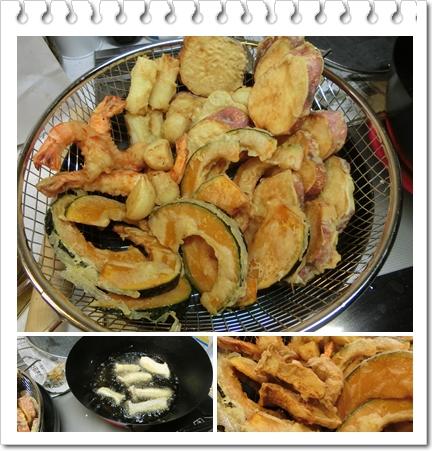 天ぷら篭盛り