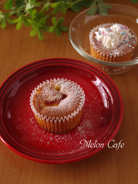 しっとりしっとり簡単イチジクのカップケーキ