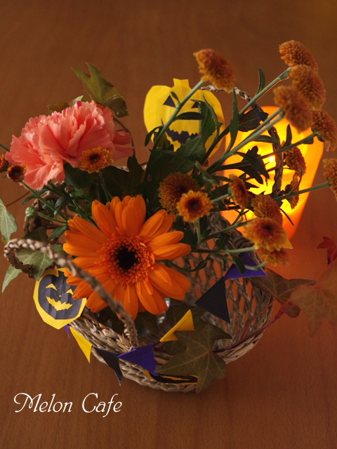 花と料理で楽しむハッピーハロウィン