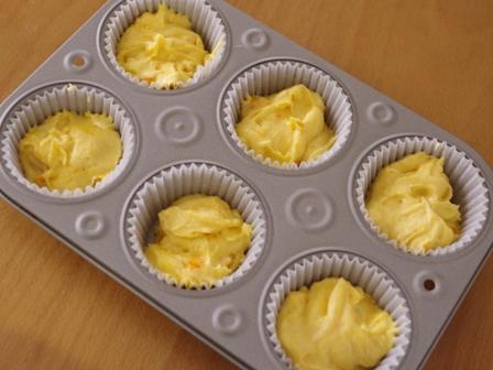 花と料理で楽しむハッピーハロウィンその2カップケーキかぼちゃ03