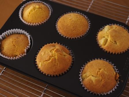 花と料理で楽しむハッピーハロウィンその2カップケーキさつまいも04