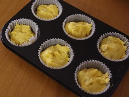 花と料理で楽しむハッピーハロウィンその2カップケーキさつまいも03