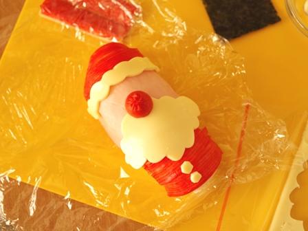 クリスマス向けオープンスティックおにぎりのサンタクロース02