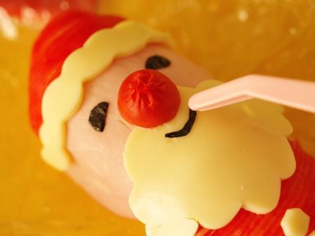 クリスマス向けオープンスティックおにぎりのサンタクロース03