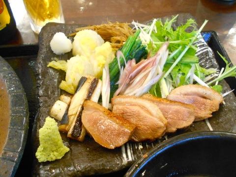鴨と茹で野菜