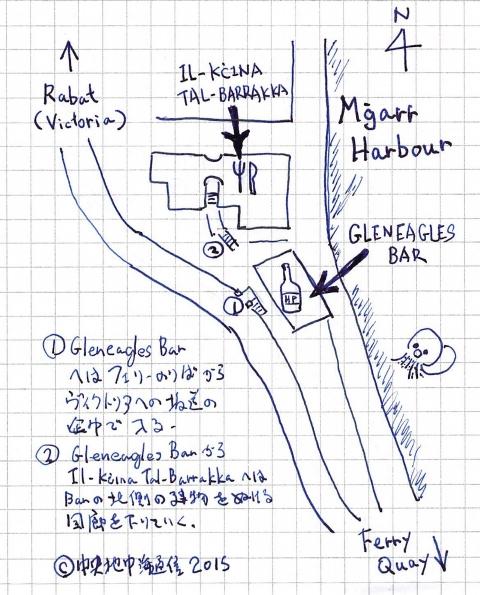Gleneaglesbar 地図