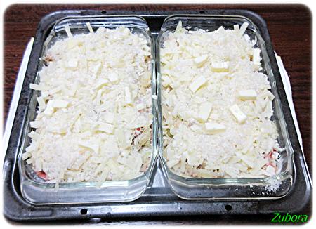 凍してあったコロッケ種とトマトでポテトピザ