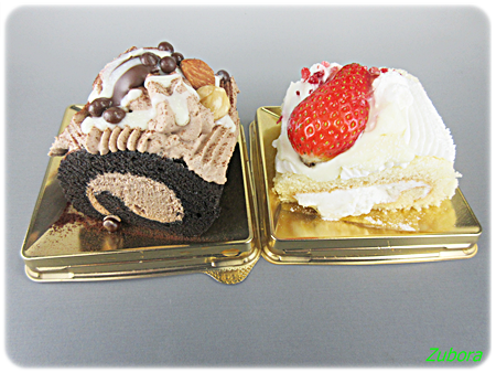 ミニストップのホワイトチョコレートノエルとベルギーチョコレートノエル