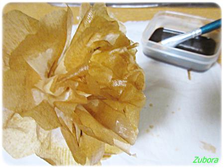 ケナフ入り紙ナプキンで作ったペパナブフラワー