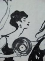 レコード美女
