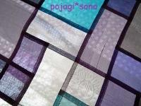ブルー・紫 シルク チョガッポ ぐし縫い 巻きかがり縫い
