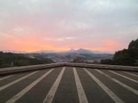 大分市美術館からの夕日