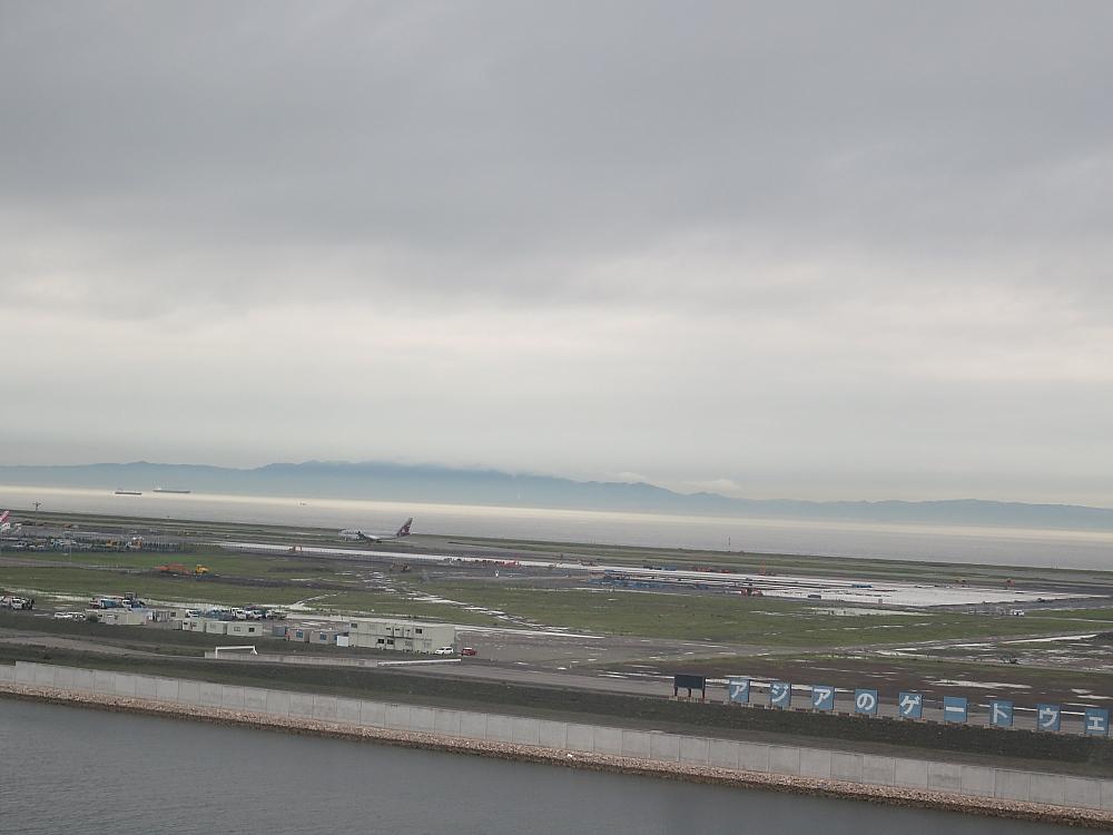 View From Hotel Nikko Kansai airport 関西空港 日航ホテル デラックスルーム