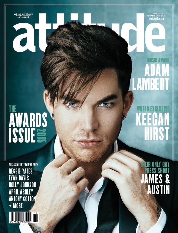 Attitude Adam Lambert アダム・ランバート 表紙